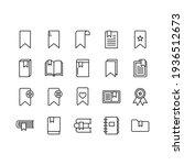 bookmark vector icons set. set...   Shutterstock .eps vector #1936512673
