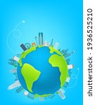 world travel concept with... | Shutterstock .eps vector #1936525210