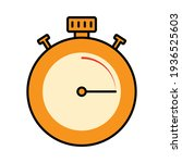 stopwatch icon on white...   Shutterstock .eps vector #1936525603