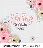 spring special offer sale... | Shutterstock .eps vector #1936532140