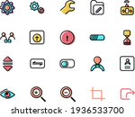 set of user interface icons on...