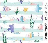 cute sea fish characters...   Shutterstock .eps vector #1936540873