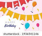 happy birthday banners and...   Shutterstock .eps vector #1936541146