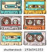 vintage retro music tape...   Shutterstock .eps vector #1936541353