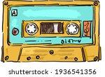 vintage retro music tape... | Shutterstock .eps vector #1936541356