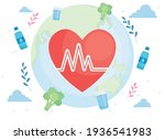 heart pulse with fitness icons   Shutterstock .eps vector #1936541983