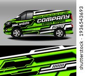 delivery van vector design. car ... | Shutterstock .eps vector #1936543693