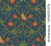 seamless pattern with birds and ... | Shutterstock .eps vector #1936551376