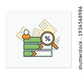 vote counting color icon.... | Shutterstock .eps vector #1936568986
