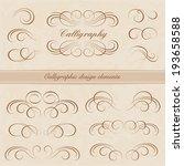 vector set  calligraphic design ...   Shutterstock .eps vector #193658588