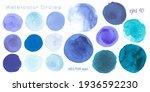 Light Blue Watercolor Dots....