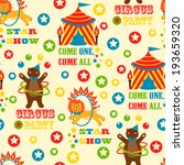 seamless pattern with cute... | Shutterstock .eps vector #193659320