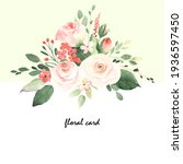 floral card with roses  small...   Shutterstock . vector #1936597450
