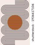 boho arch poster. abstract boho ... | Shutterstock .eps vector #1936617106
