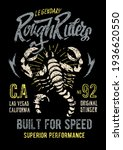 scorpion patterned vector badge ...   Shutterstock .eps vector #1936620550