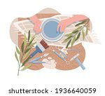 hands making and decorating...   Shutterstock .eps vector #1936640059