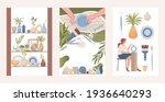 pottery shop  handmade clay...   Shutterstock .eps vector #1936640293