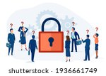 vector of confused business... | Shutterstock .eps vector #1936661749