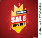 best price slae banner template ... | Shutterstock .eps vector #1936669846