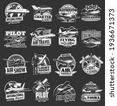 aviation vector icons vintage...   Shutterstock .eps vector #1936671373