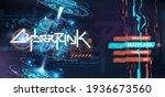 cyberpunk menu ui. hologram...