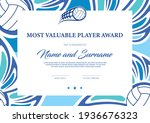 certificate for volleyball most ... | Shutterstock .eps vector #1936676323