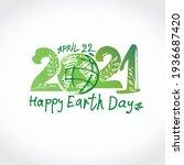 happy earth day 2021. green...   Shutterstock .eps vector #1936687420