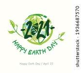 vector card 2021. happy earth...   Shutterstock .eps vector #1936687570
