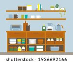 background with nice kitchen...   Shutterstock .eps vector #1936692166