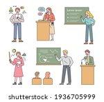 a collection of teacher...   Shutterstock .eps vector #1936705999