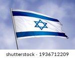 Israel Flag Isolated On Sky...