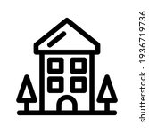 lodging icon or logo isolated...   Shutterstock .eps vector #1936719736