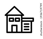 lodging icon or logo isolated...   Shutterstock .eps vector #1936719799