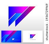 letter w logo design   modern... | Shutterstock .eps vector #1936729969