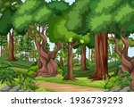 forest scene with hiking track... | Shutterstock .eps vector #1936739293