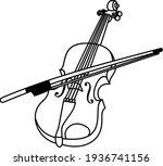 Violin Vector Icon Line Art