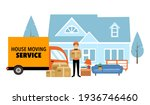 moving house service concept... | Shutterstock .eps vector #1936746460