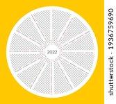 unusual calendar 2022. vector... | Shutterstock .eps vector #1936759690