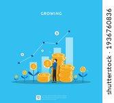 business growth illustration...   Shutterstock .eps vector #1936760836
