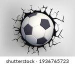 soccer ball flying through the... | Shutterstock .eps vector #1936765723
