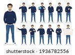 handsome business man in casual ... | Shutterstock .eps vector #1936782556