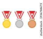 gold medal for first place in a ... | Shutterstock .eps vector #1936788673