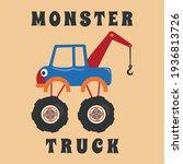 vector illustration of monster... | Shutterstock .eps vector #1936813726
