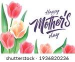 happy mother's day handwritten...   Shutterstock .eps vector #1936820236