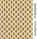 ikat ogee beige with brown...   Shutterstock .eps vector #1936838980