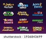 video poker casino game logo ...   Shutterstock .eps vector #1936843699