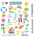 summer icons set.vector | Shutterstock .eps vector #193684490