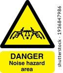 danger noise hazard area... | Shutterstock .eps vector #1936847986