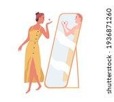 happy beautiful woman sending... | Shutterstock .eps vector #1936871260