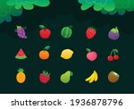set of fruits vector  colorful...   Shutterstock .eps vector #1936878796